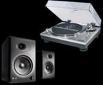 Pickup Audio-Technica Pickup Audio-Technica AT-LP120USBC HS10 upgrade + Boxe active Audioengine A5+