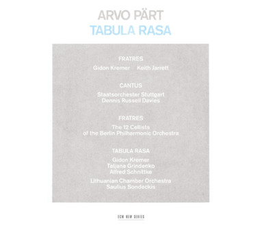 CD ECM Records Arvo Part: Tabula Rasa
