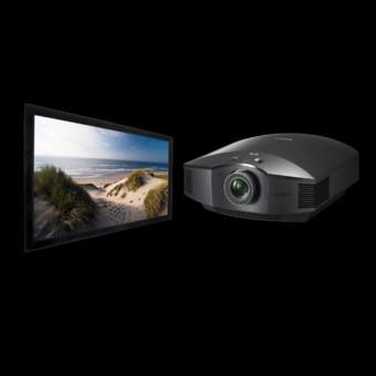 Videoproiector Sony VPL-HW45 + HomeScreen DELUXE 16:9, panza HD Progressive 151x256cm