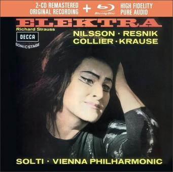 CD Decca Strauss - Elektra ( Solti - Nilsson, Resnik ) CD + BluRay Audio