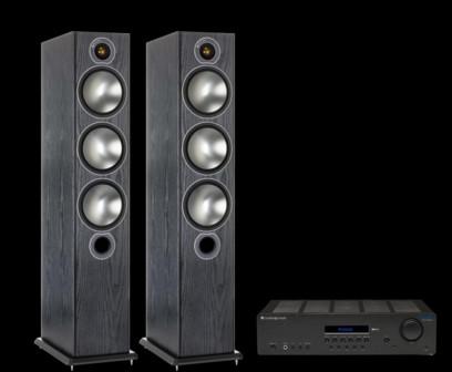 Pachet PROMO Monitor Audio Bronze 6 + Cambridge Audio Topaz SR20