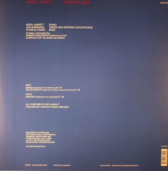 VINIL ECM Records Keith Jarrett: Arbour Zena