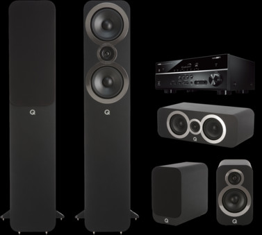 Pachet PROMO Q Acoustics 3050i pachet 5.0 + Yamaha RX-V485