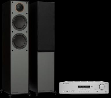 Pachet PROMO Monitor Audio Monitor 200 Black Cone + Cambridge Audio AXR100