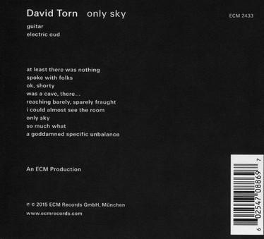 CD ECM Records David Torn: Only Sky