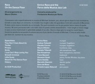 CD ECM Records Enrico Rava: On The Dance Floor