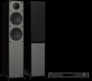 Pachet PROMO Monitor Audio Monitor 200 Black Cone + NAD C 328