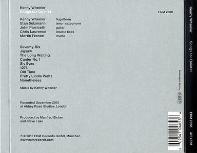 CD ECM Records Kenny Wheeler: Songs For Quintet