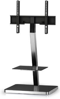 Stand TV mobil pentru podea Sonorous - PL 2710-BLK-SLV