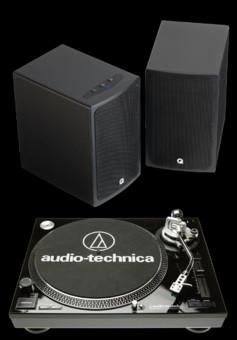 Q Acoustics BT3 + Audio-Technica AT-LP120USB HS10