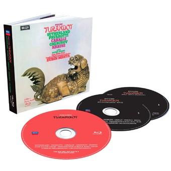 CD Decca Puccini: Turandot ( Mehta - Sutherland, Pavarotti, Caballe ) CD + BluRay Audio