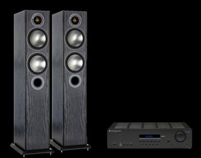 Pachet PROMO Monitor Audio Bronze 5 + Cambridge Audio Topaz SR20