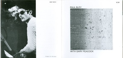 CD ECM Records Paul Bley: With Gary Peacock