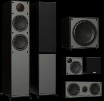Pachet PROMO Monitor Audio Monitor 200 Black Cone pachet 5.1