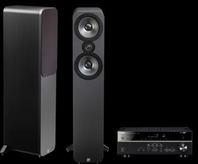 Q Acoustics 3050 + Yamaha RX-V483