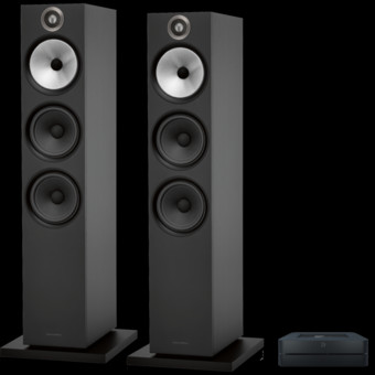 Pachet PROMO Bowers & Wilkins 603 S2 Anniversary Edition + Bluesound Powernode 2i V2