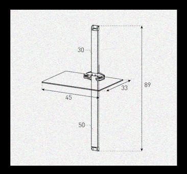 Polita pentru perete  Sonorous - PL 2610-B-BLK