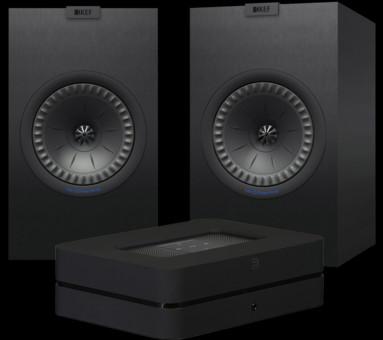 Pachet PROMO KEF Q350 + Bluesound Powernode 2i