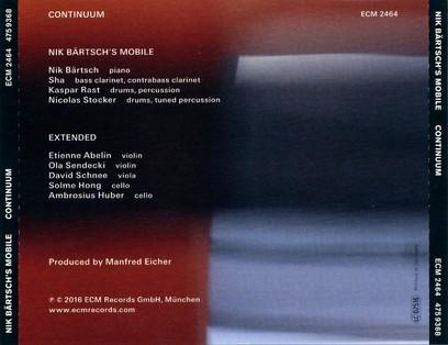 CD ECM Records Nik Bartsch's Mobile: Continuum