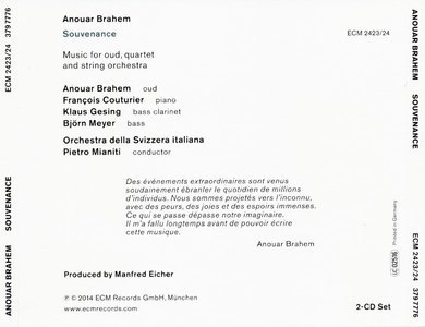 CD ECM Records Anouar Brahem: Souvenance