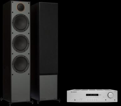 Pachet PROMO Monitor Audio Monitor 300 Black Cone + Cambridge Audio AXR100