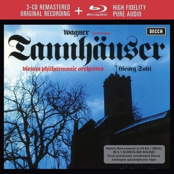 CD Decca Wagner: Tannhauser ( Solti - Kollo, Dernesch ) CD + BluRay Audio