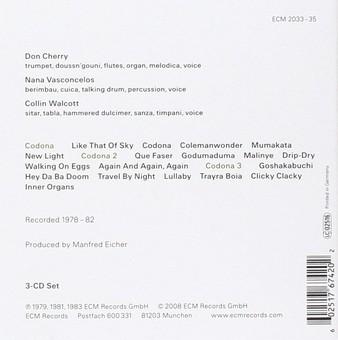 CD ECM Records Don Cherry, Collin Walcott, Nana Vasconcelos: The Codona Trilogy (3 CD-Box)