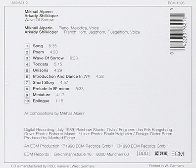VINIL ECM Records Mikhail Alperin, Arkady Shilkloper: Wave Of Sorrow
