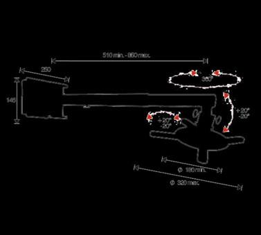 OMB Suport Proiector pentru perete Precision Projector