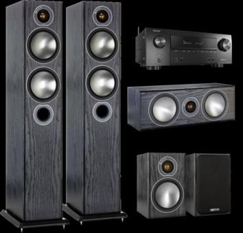 Pachet PROMO Monitor Audio Bronze 5 pachet 5.0 + Denon AVR-X2500H