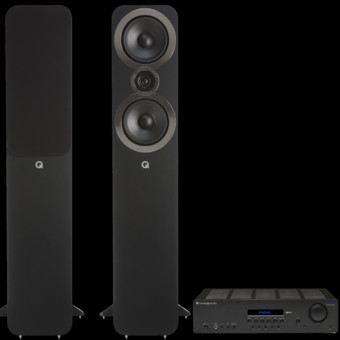 Pachet PROMO Q Acoustics 3050i + Cambridge Audio Topaz SR20