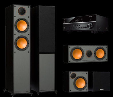 Pachet PROMO Monitor Audio Monitor 200 pachet 5.0 + Yamaha RX-V385