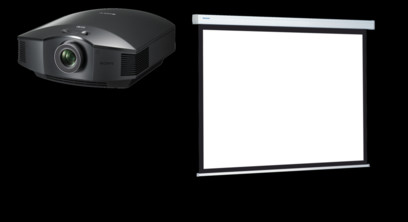 Videoproiector Sony VPL-HW65ES + Projecta COMPACT RF ELECTROL Matte White 173x300cm