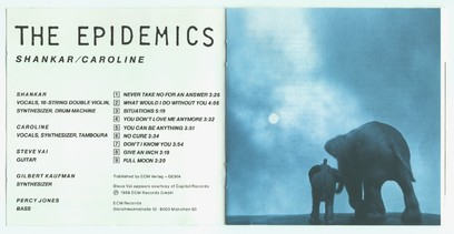 VINIL ECM Records Shankar / Caroline: The Epidemics