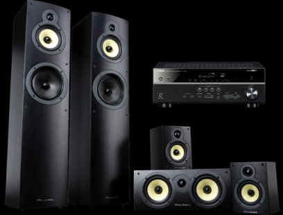 Pachet PROMO Wharfedale Crystal 4 5.0 set + Yamaha RX-V483