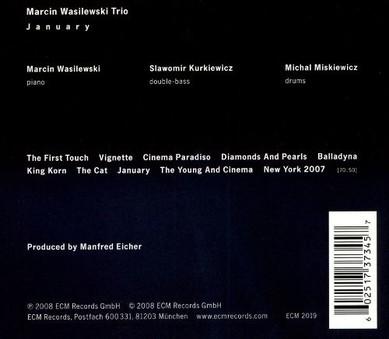 CD ECM Records Marcin Wasilewski Trio: January