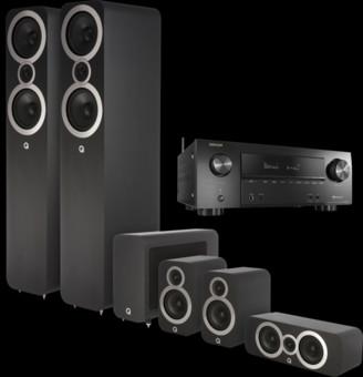 Pachet PROMO Q Acoustics 3050i pachet 5.1 + Denon AVR-X2500H