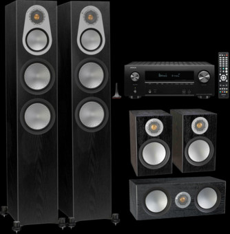 Pachet PROMO Monitor Audio Silver 300 5.0 + Denon AVR-X2600H