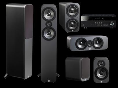 Pachet PROMO Q Acoustics 3050 pachet 5.1 + Yamaha RX-V485