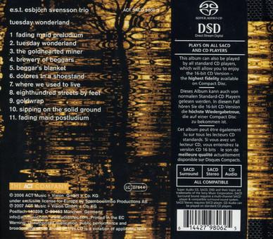 CD ACT Esbjorn Svensson Trio: Tuesday Wonderland SACD