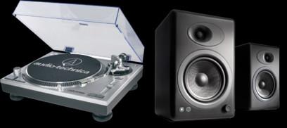 Pickup Audio-Technica AT-LP120USB + Audioengine A5+