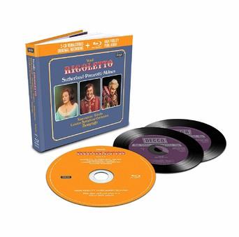 CD Decca Verdi - Rigoletto ( Bonynge - Sutherland, Pavarotti, Milnes ) CD + BluRay Audio