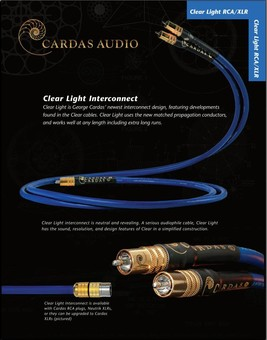 Cablu Cardas Clear Light Interconnect RCA 1m
