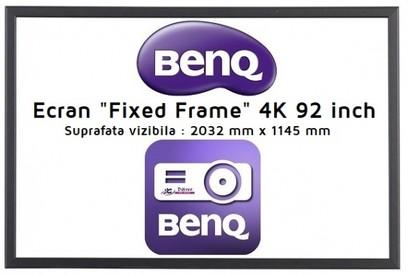 Ecran proiectie BenQ Ecran fix 203 x 114cm , 16:9