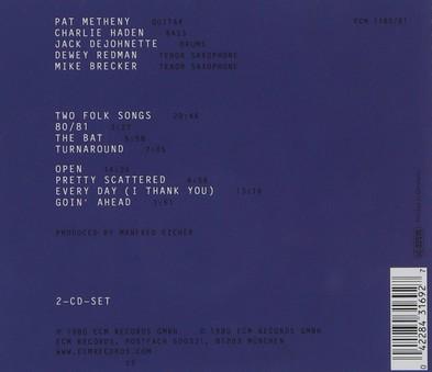 CD ECM Records Pat Metheny: 80/81