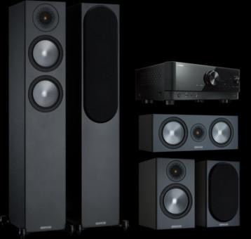 Pachet PROMO Monitor Audio Bronze 200 pachet 5.0 + Yamaha RX-V4A