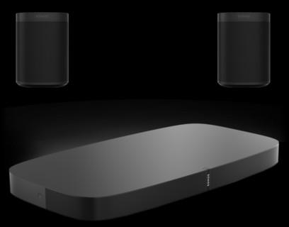 Sonos Playbase + 2 x Sonos One SL