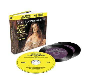 CD Decca Donizetti - Lucia Di Lammermoor ( Bonynge, Sutherland, Pavarotti ) CD + BluRay Audio