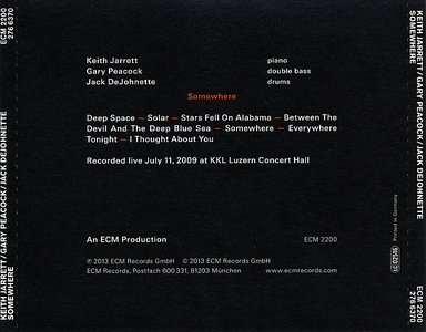 CD ECM Records Keith Jarrett Trio: Somewhere