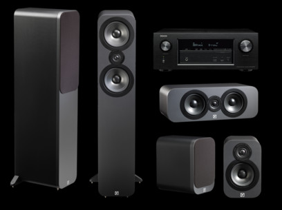 Pachet PROMO Q Acoustics 3050 pack 5.0 + Denon AVR-X2300W